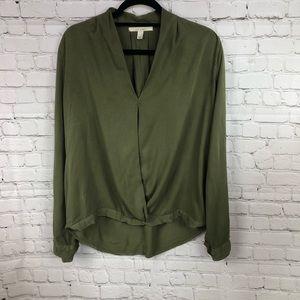 "Francesca's ""miami"" brand Olive Green Blouse"